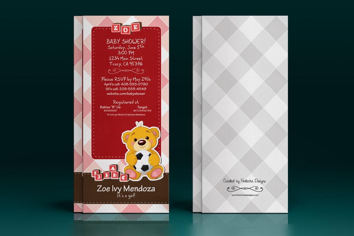 Baby Shower Invitation: Zoe 1
