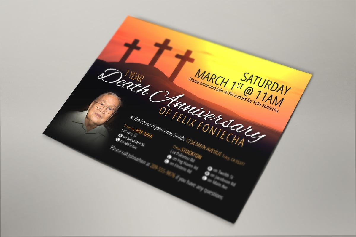 Death Anniversary Invitation 1