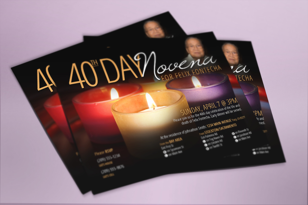 40th Day Novena Invitation 1