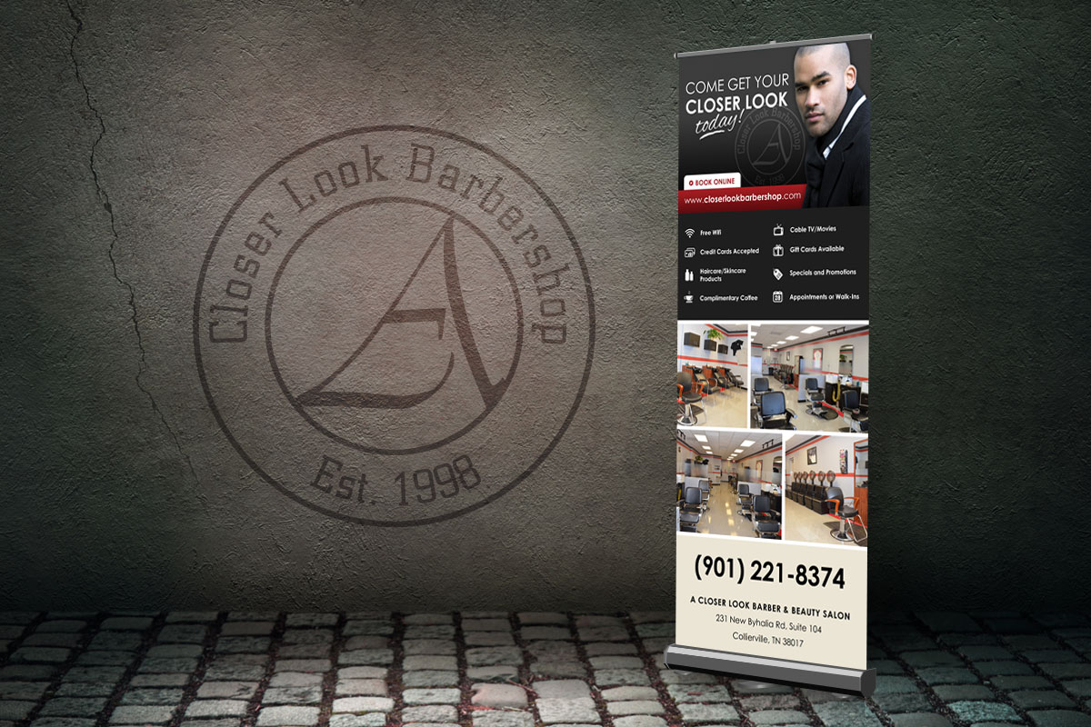 A Closer Look Barbershop Vertical Banner 1