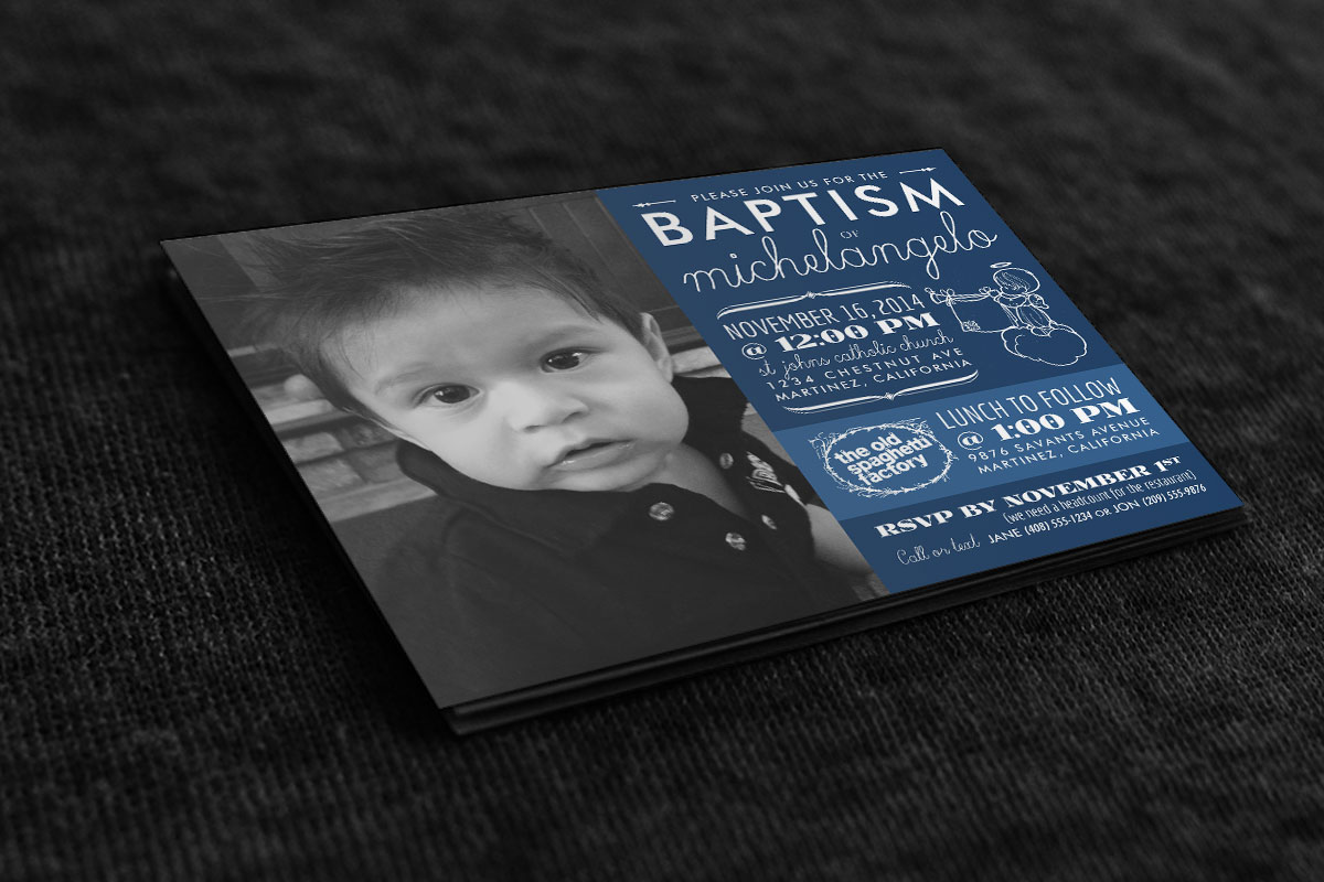 Baptism Invitation: Michelangelo 1