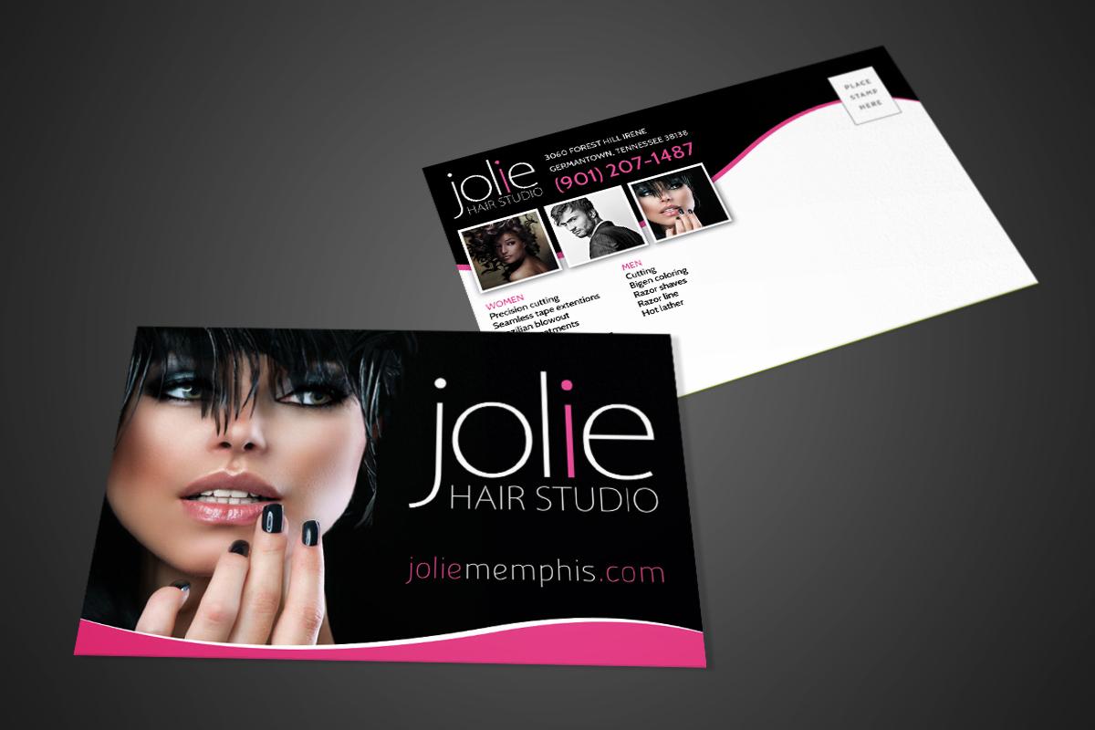 Jolie Hair Studio Postcard 1