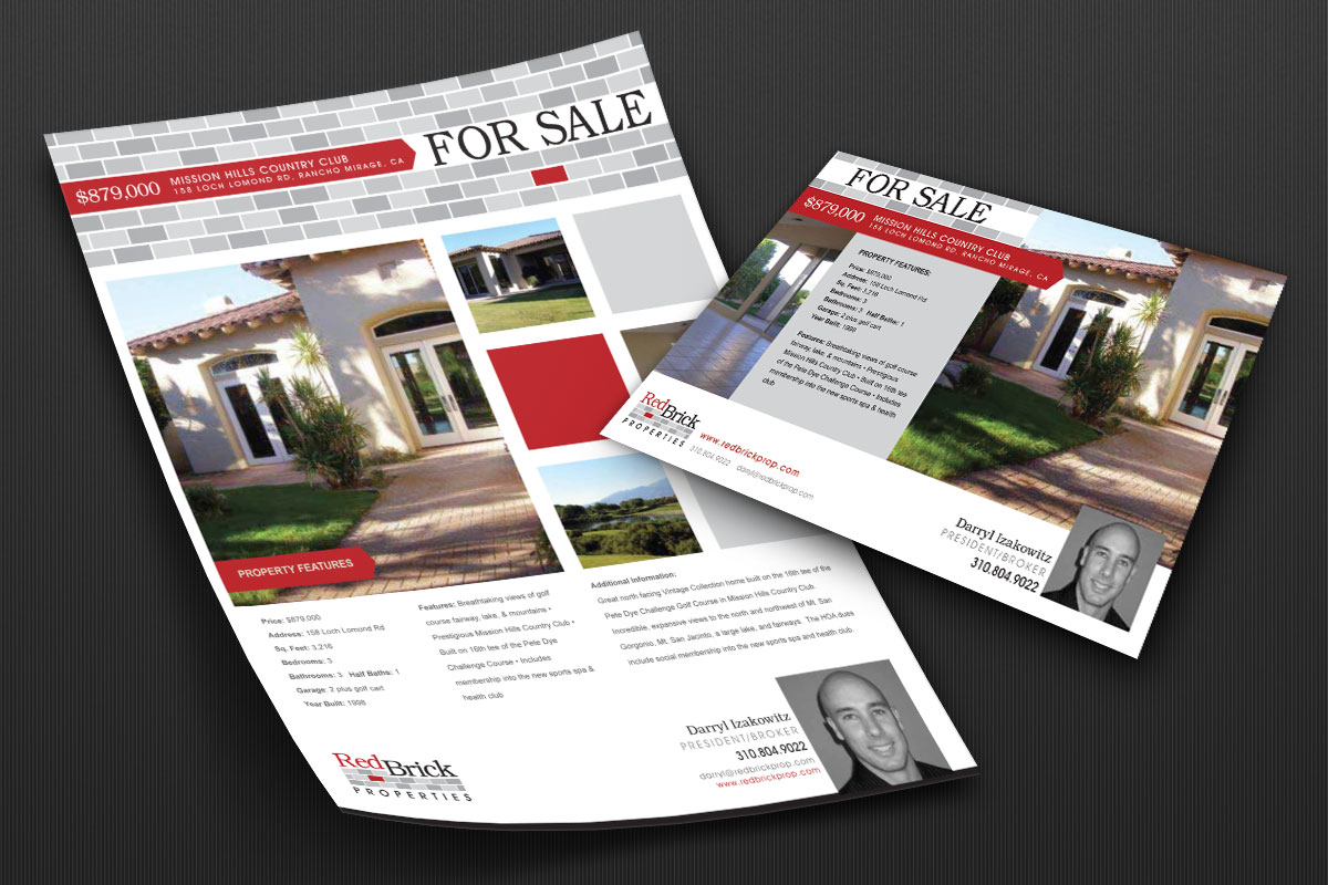 RedBrick Property Flyer and Postcard 1