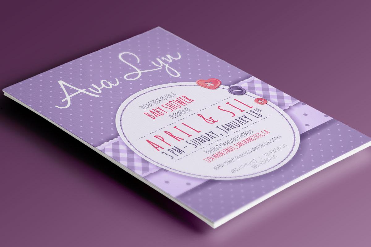 Baby Shower Invitation: Ava Lyn 1