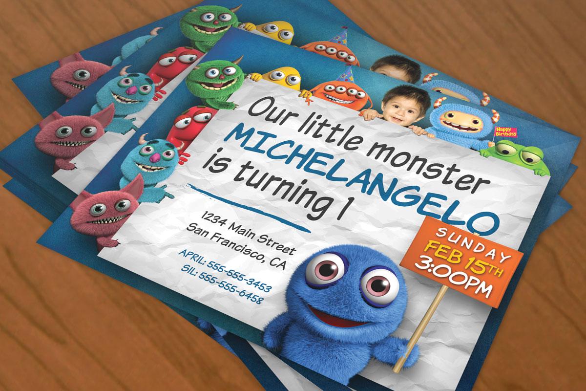 Monster Birthday Invitation 4