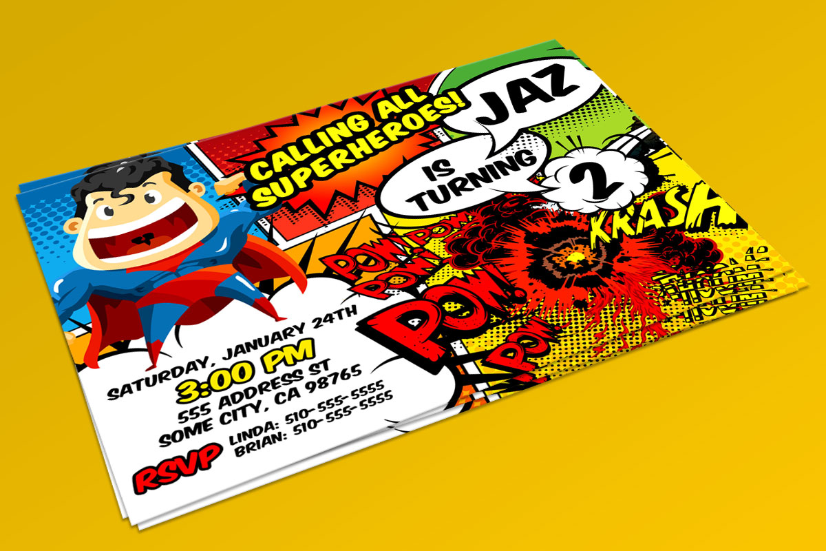 Superhero Invitation 2