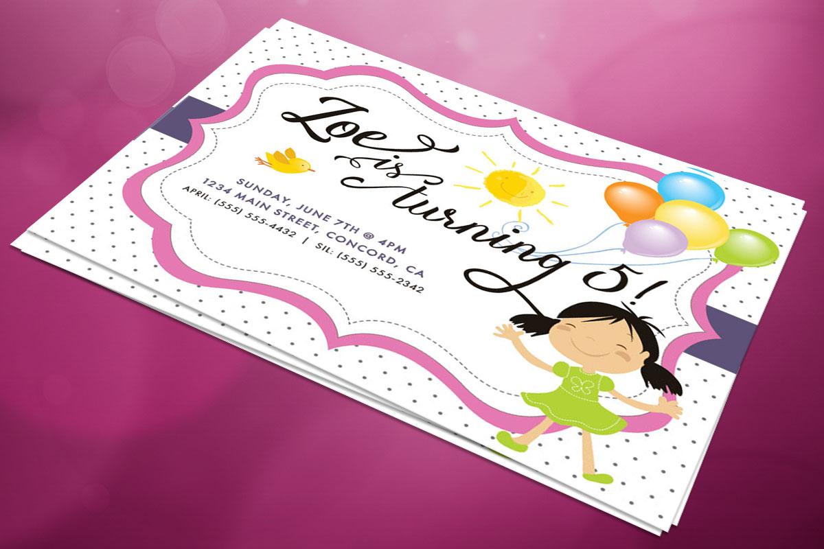 Birthday Party Invitation - Zoe's 5th 1
