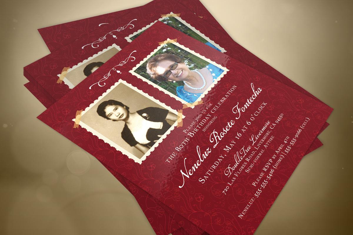 Birthday Party Invitation - 80th Birthday 3